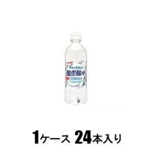 サンガリア 伊賀の天然水 強炭酸水 500ml×24本 [9148]