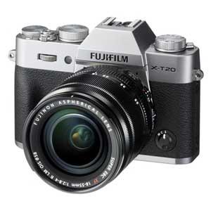 F X-T20LK-S 富士フイルム ミラーレスデジタルカメラ「X-T20」レンズキット(シルバー) [FXT20LKS]【返品種別A】【送料無料】