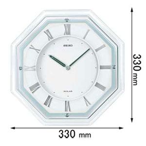 SF503W【税込】 セイコークロック ソーラー電波掛時計  [SF503W]【返品種別A】【RCP】:Joshin web 家電とPCの大型専門店