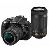 D5300WZ3【税込】 ニコン デジタル一眼レフカメラ「D5300」AF-P ダブルズームキット(ブラック) [D5300WZ3]【返品種別A】【送料無料】【RCP】