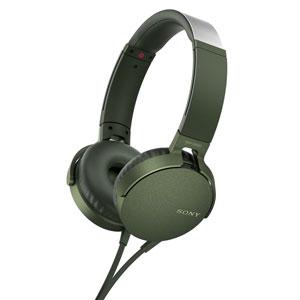 MDR-XB550AP G ソニー マイク&コントローラー搭載ダイナミック密閉型ヘッドホン (グリーン) SONY