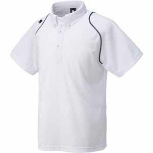 ボタンダウンポロシャツ DTM-4600 S ホワイト 1枚 DS DTM4600 WHT デサント [8276]