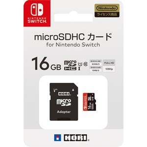 Switch マイクロSDカード16GBforNintendoSwitchホリ NSW-042マイクロSD16GB