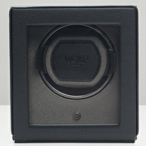461103-CUB ウルフ ウォッチワインダー1本巻き ブラック WOLF [461103CUB]【返品種別B】:Joshin web 家電とPCの大型専門店
