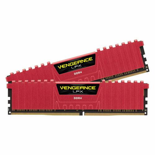 CMK16GX4M2A2666C16R コルセア PC4-21300 (DDR4-2666)288pin DDR4 DIMM 16GB(8GB×2枚) CORSAIR Vengeance LPX 16GB (2x8GB) DDR4 DRAM 2666MHz C16 Memory Kit-Red