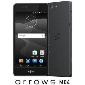 FARM06303(M04ブラツク) 富士通 SIMフリースマートフォン arrows M04 ブラック