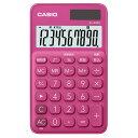 Joshin web 家電とPCの大型専門店で買える「SL-300C-RD カシオ 電卓 10桁 (ビビッドピンク) CASIO カラフル電卓 手帳タイプ」の画像です。価格は587円になります。