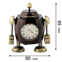 AC3043-BR ミニチュアクロック Miniature Clock Collection レトロ ロボット(太) [