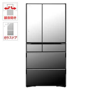 (標準設置料込)R-WX74J-X 日立 735L 6ドア冷蔵庫(クリスタルミラー) HITACHI 真空チルド ラグジュアリーWXシリーズ [RWX74JX]【返品種別A】