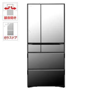 (標準設置料込)R-WX67J-X 日立 670L 6ドア冷蔵庫(クリスタルミラー) HITACHI 真空チルド ラグジュアリーWXシリーズ [RWX67JX]【返品種別A】