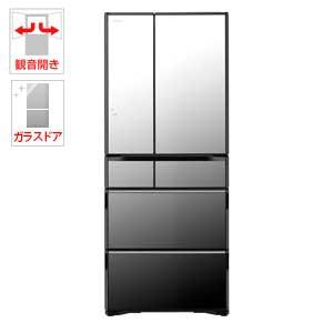 (標準設置料込)R-WX62J-X 日立 615L 6ドア冷蔵庫(クリスタルミラー) HITACHI 真空チルド ラグジュアリーWXシリーズ [RWX62JX]【返品種別A】