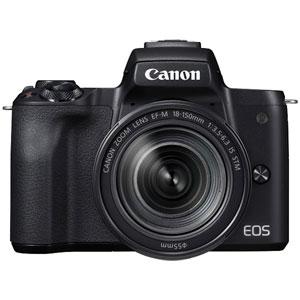 【500円クーポン11/25 23:59迄】EOSKISSMBK-18150IS キヤノン ミラーレス一眼カメラ「EOS Kiss M」EF-M18-150 IS STM レンズキット(ブラック) Canon