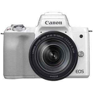 【500円クーポン11/25 23:59迄】EOSKISSMWH-18150IS キヤノン ミラーレス一眼カメラ「EOS Kiss M」EF-M18-150 IS STM レンズキット(ホワイト) Canon