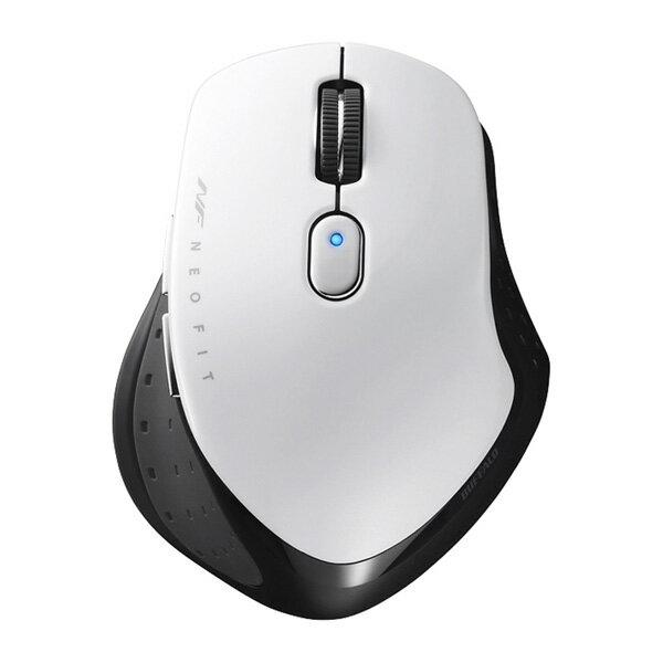 バッファロー 無線 BlueLED 5ボタン NEOFITマウス Mサイズ ホワイト BSMBW510MWH 1台