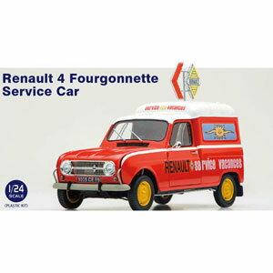 車・バイク, クーペ・スポーツカー 124 Renault 4 Fourgonnette Service Car25012 EBBRO