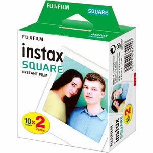 INSTAXSQUAREWW2 富士フイルム インスタントカラーフィルム「instax SQUARE」ホワイト(10枚入×2)
