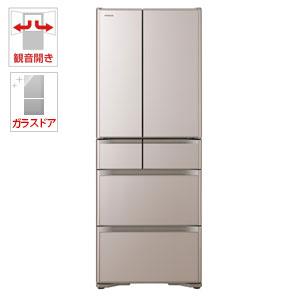 (標準設置料込)R-XG48J-XN 日立 475L 6ドア冷蔵庫(クリスタルシャンパン) HITACHI