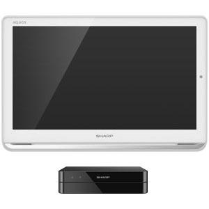 2T-C16AP-W シャープ 16V型ポータブル地上・BS・110度CSデジタルフルハイビジョン液晶テレビ(ホワイト) (500GB HDD内蔵録画対応)AQUOSポータブル