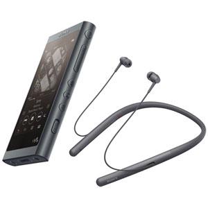 NW-A55WI/B ソニー ウォークマン A50シリーズ 16GB + ワイヤレスヘッドホン「WI-H700」同梱モデル(グレイッシュブラック) SONY Walkman