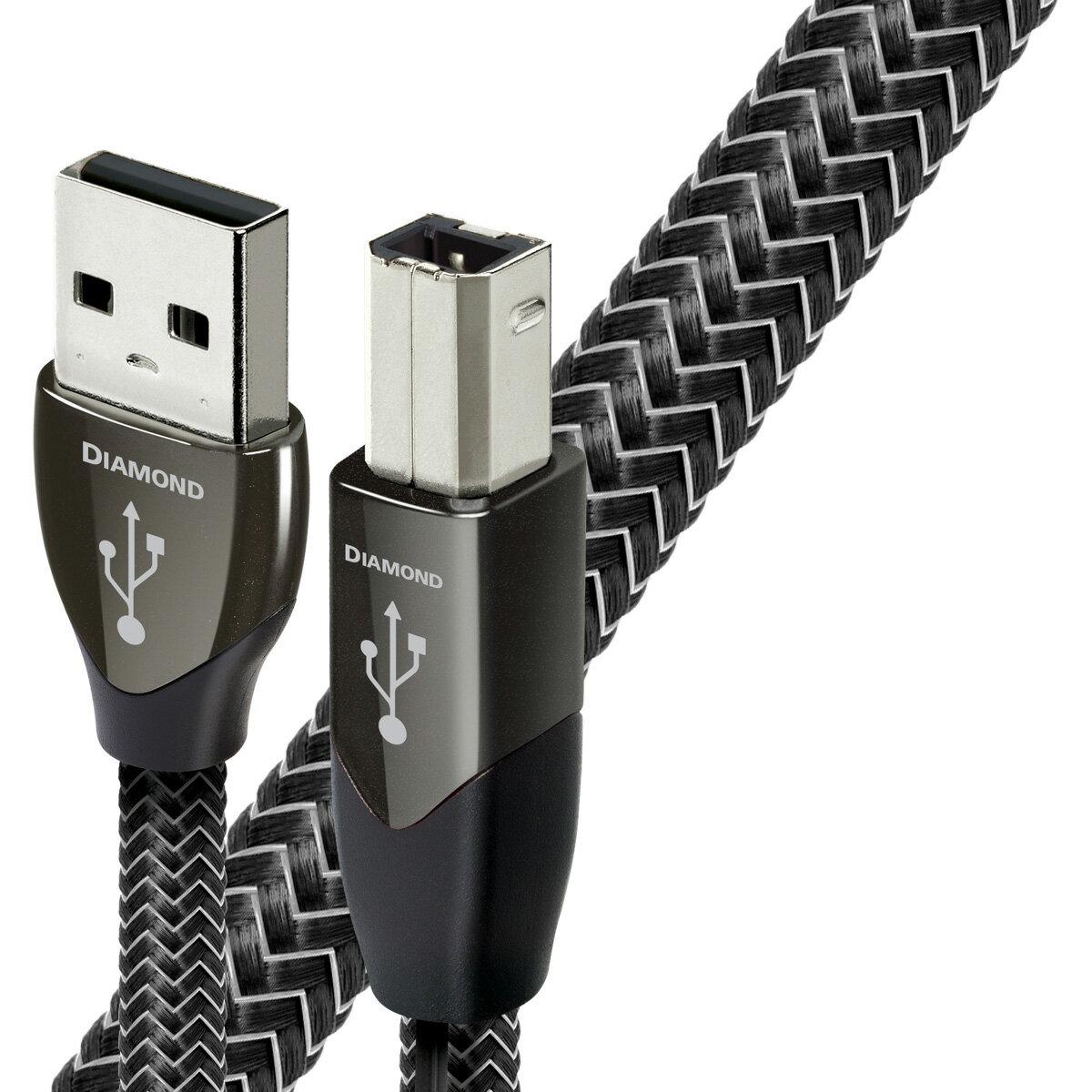 """USB2 Diamond 1.5M/A to B オーディオクエスト オーディオグレードUSBケーブル(0.75m・1本)【A】タイプ⇒【B】タイプ audio-quest""""ダイヤモンド"""""""