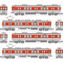 トミーテック  鉄道コレクション 神戸電鉄デ1350形メモリアルトレイン 4両セット[Nゲージ鉄道模型]