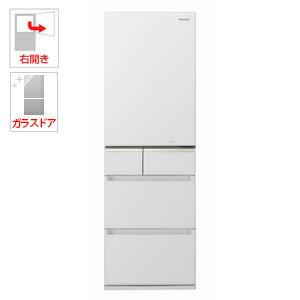 (標準設置料込)NR-E414GV-W パナソニック 406L 5ドア冷蔵庫(スノーホワイト)【右開き】 Panasonic エコナビ