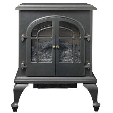YDH-SL10P-B 山善 暖炉型ヒーター(ブラック) 【暖房器具】YAMAZEN