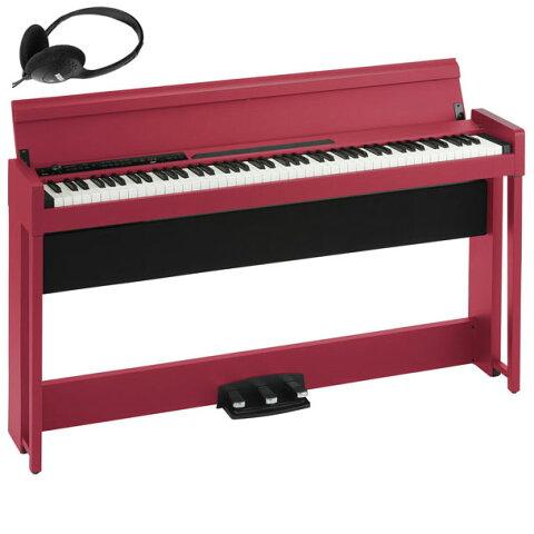 C1-AIR-RD コルグ 電子ピアノ(レッド)【ヘッドホン付き】 KORG C1 Air C1AIR