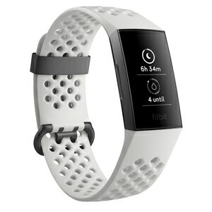 測定器・スポーツテスト用品, 活動量計 FB410GMWT-CJK GraphiteWhite Silicone LS Fitbit Charge3 Special Edition FB410GMWTCJKA