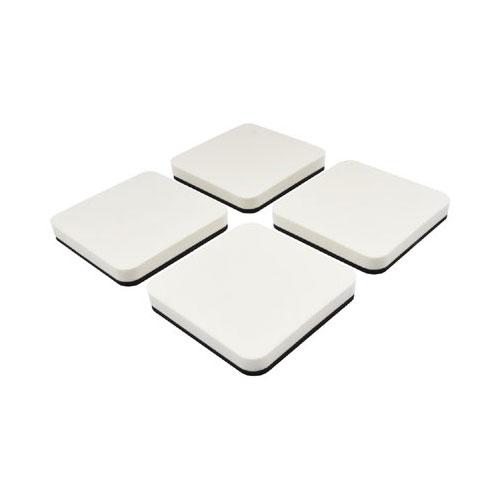 カクダイ ガオナ 洗濯機用 防振マット 4枚り (振動軽減 置くだけ簡単)GA-LF002