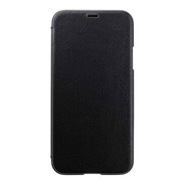 PUY-82 パワーサポート iPhone XS用 エアージャケット PUレザー ウォレットタイプケース(ブラック) Air Jacket