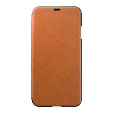 PUC-80 パワーサポート iPhone XS Max用 エアージャケット PUレザー ウォレットタイプケース(ブラウン) Air Jacket