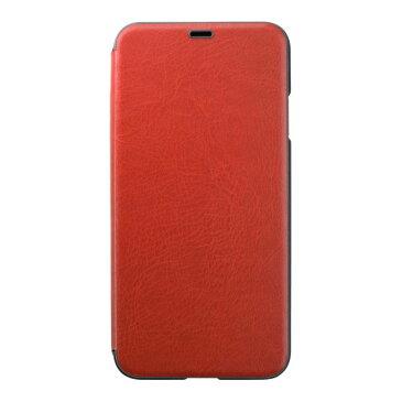PUC-81 パワーサポート iPhone XS Max用 エアージャケット PUレザー ウォレットタイプケース(レッド) Air Jacket