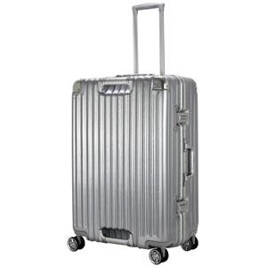 TRI1102-67 アルミSV シフレ スーツケース ハードフレーム 85L(アルミシルバー) TRIDENT(トライデント)