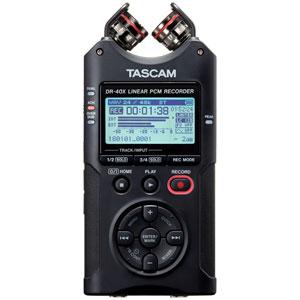 DR-40X タスカム リニアPCMレコーダー【外部microSDスロット搭載】 TASCAM
