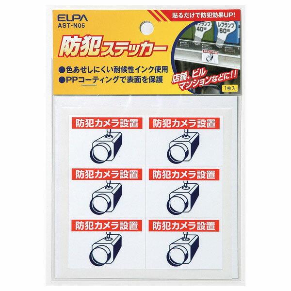 朝日電器 エルパ ELPA 防犯ステッカーカメラ小 AST-N05