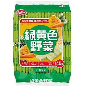 40枚緑黄色野菜ウエハース ハマダコンフェクト リヨクオウシヨクヤサイウエハ-ス40マイ