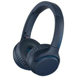 WH-XB700-L ソニー Bluetooth対応ダイナミック密閉型ヘッドホン(ブルー) SONY
