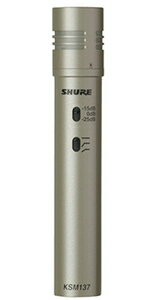 シュアー SHURE KSM137SL-X 楽器用コンデンサー型マイクロホン