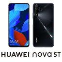 YAL-L21-BK(NOVA5T) HUAWEI(ファーウェイ) nova 5T ブラック [6.26インチ / メモリ 8GB / ストレージ 128GB]SIMフリースマートフォン