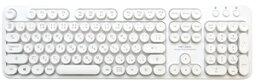 TRT-US01/WH MCO レトロ風デザインUSBキーボード 日本語配列108キー(ホワイト) ミヨシ
