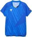 TSP-031478-0120-XL ヴィクタス 男女兼用 卓球用ゲームシャツ(ブルー・サイズ:XL) VICTAS V-NGS900