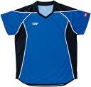 TSP-031432-0120-L ティーエスピー 男女兼用 卓球用ゲームシャツ(ブルー・サイズ:L) TSP エテルノシャツ