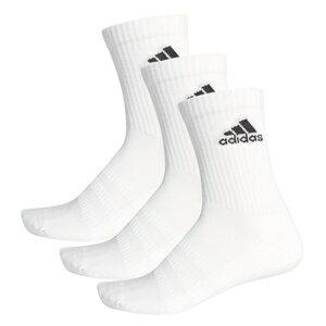 AJ-FXI66-DZ9356-S アディダス クッション クルー ソックス 3足組み(ホワイト/ホワイト/ブラック・サイズ:S 22〜24cm) adidas Cushioned Crew Socks 3 Pairs