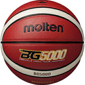B5G5000 モルテン バスケットボール 5号球 (人工皮革) Molten BG5000 (オレンジ×アイボリー)