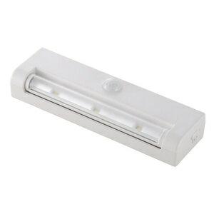 オーム電機 LEDセンサーライト 電池式 ホワイト NIT-L033M-W 07-9757