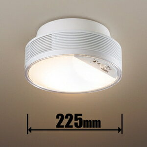 トイレのニオイを脱臭し、カビ菌やウイルスを抑制する照明。