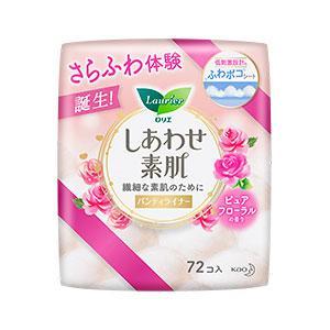 花王 ライナー 14cm ロリエ しあわせ素肌 パンティライナー ピュアフローラルの香り 1セット(72枚×6個) 花王