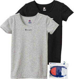 Champion(チャンピオン) クーポン対象商品 (チャンピオン)champion 半袖 シャツ インナー 2枚組 キッズ ジュニア 男の子 クルーネック Tシャツ クーポンコード:WGWYGKJ