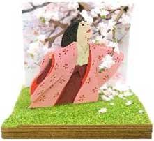 NONスケール みにちゅあーとキット スタジオジブリminiシリーズ 山桜の木の下で(かぐや姫の物語)【MP07-108】 さんけい画像